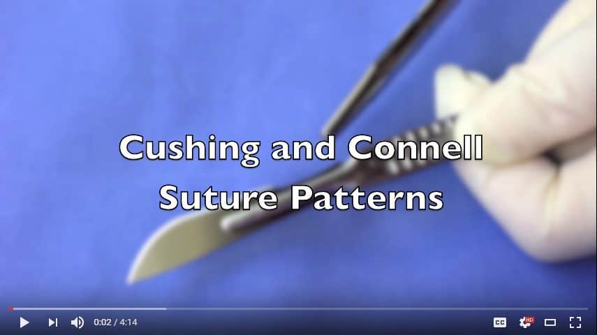 Cushing Suture Pattern Connel Suture Pattern Video
