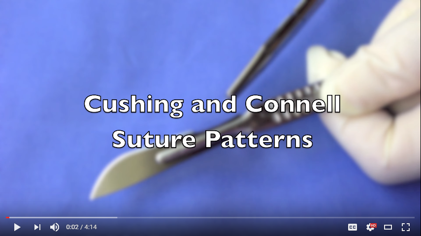 Cushing and Connell Suture Patterns