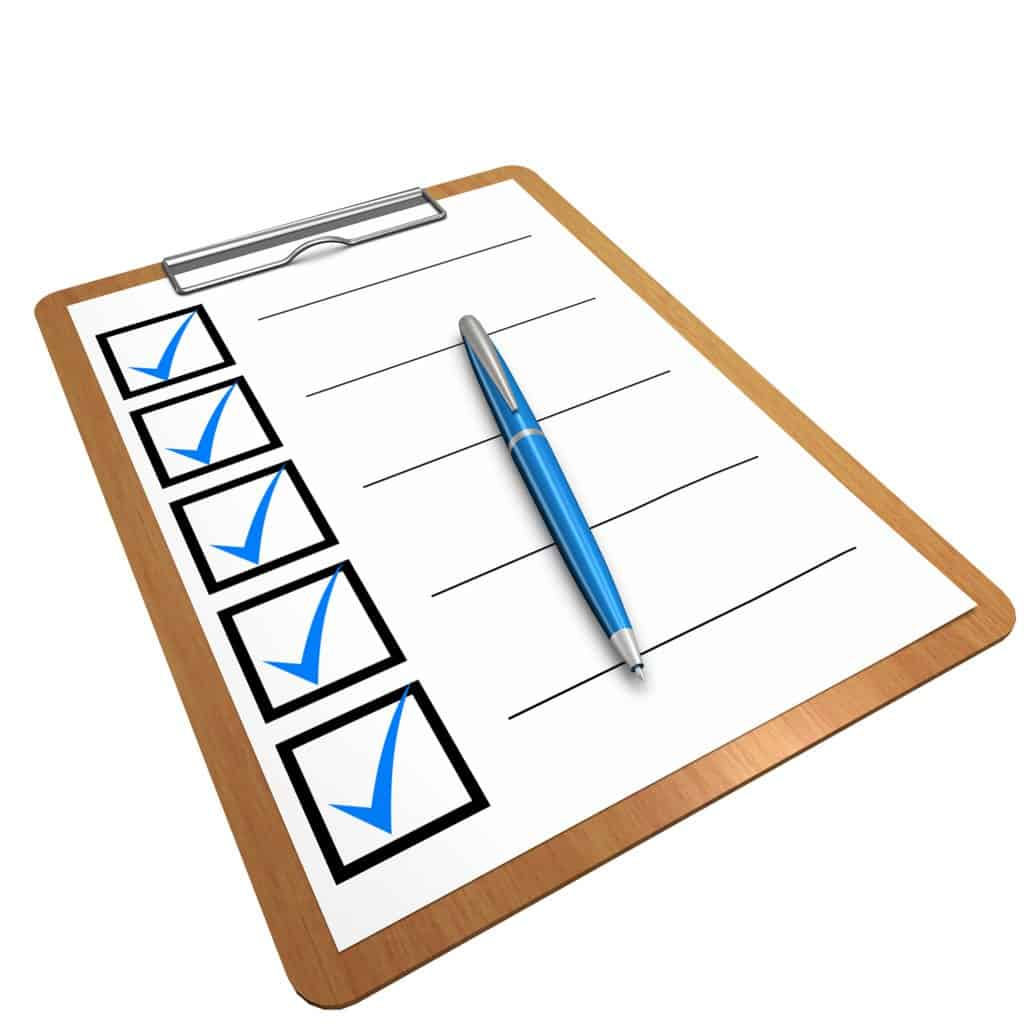 clip art checklist