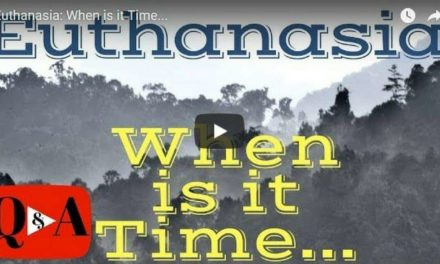 Euthanasia: When is it Time… – Video by Dr. Evan Antin
