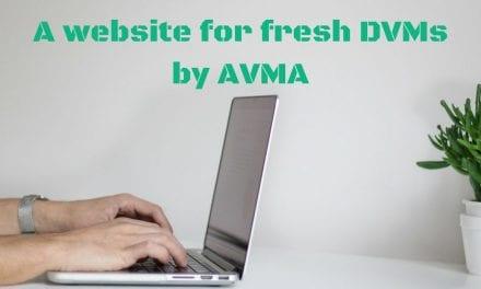 A website for fresh DVMs by AVMA