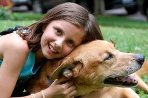 dog with a girl