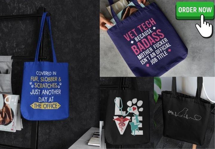 Vet Tech Tote Bags I Love Veterinary - Blog for Veterinarians, Vet Techs, Students
