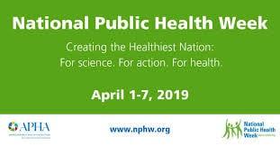 National Public Health Week 2019