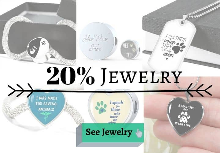 black friday discounts on Jewelry at I Love Veterinary Store