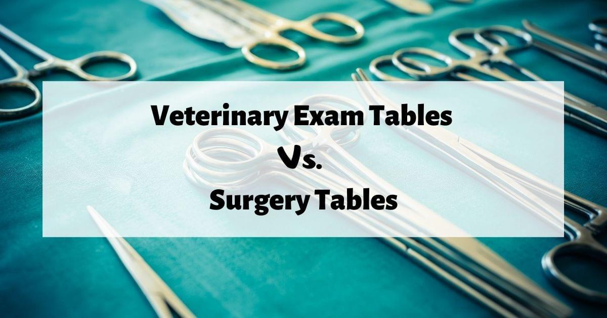 Veterinary Exam Tables Vs. Surgery Tables