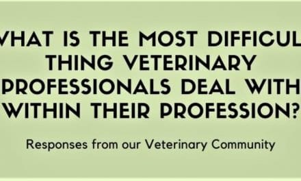 What is the most difficult thing veterinary professionals deal with within their profession?