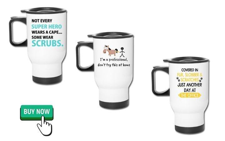 veterinary student graduation gifts travel mugs, I Love Veterinary