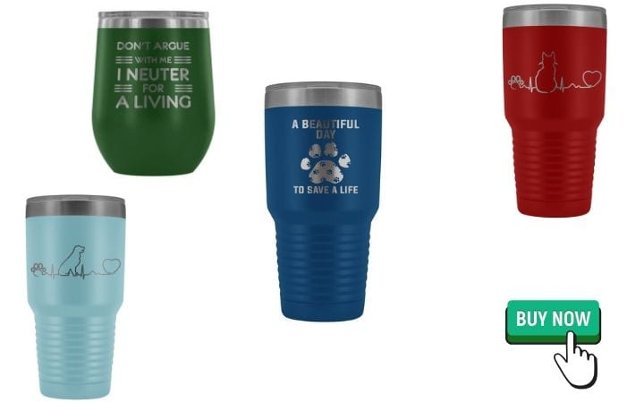 tumblers, graduation gifts for veterinary students by I Love Veterinary