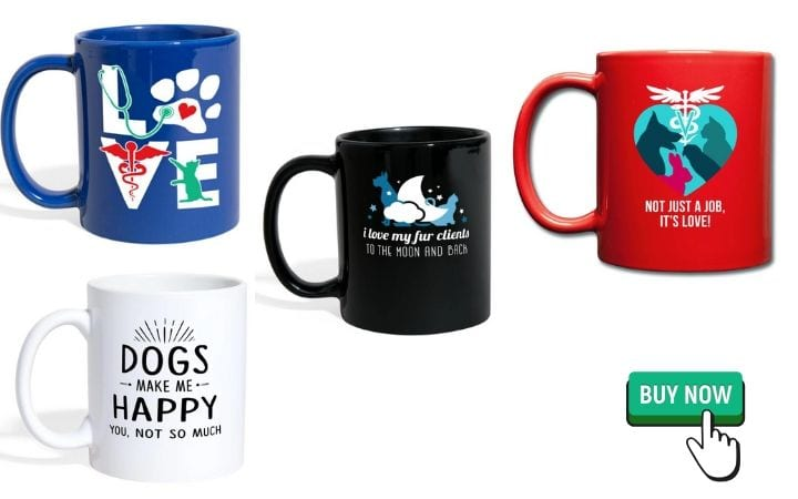 coffee mugs as graduation gifts for veterinary students by I love veterinary