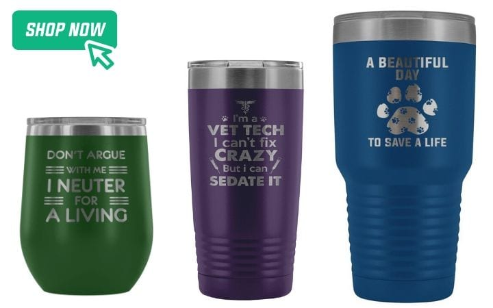 gifts for world veterinary day, tumblers, I Love Veterinary
