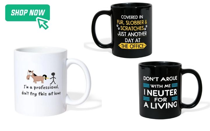 best gifts for world veterinary day, coffee mugs I Love veterinary