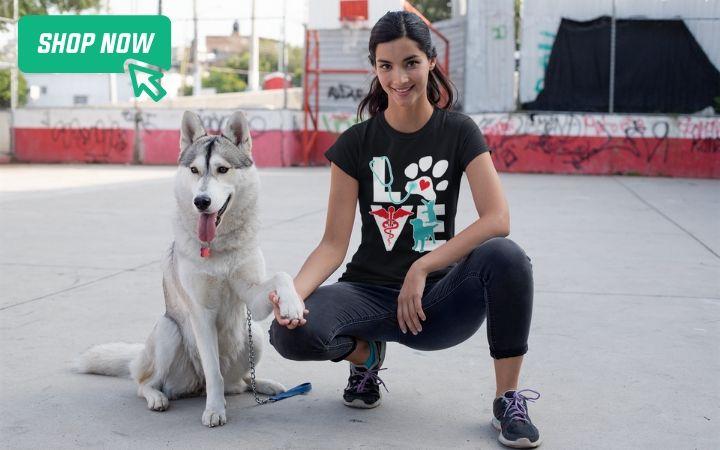 world veterinary day gifts t-shirts I Love Veterinary