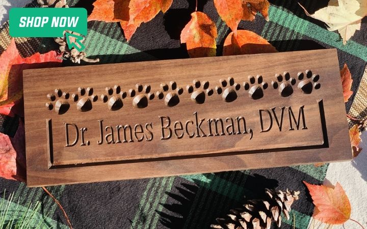 gifts for world veterinary desk name plate, I Love Veterinary day