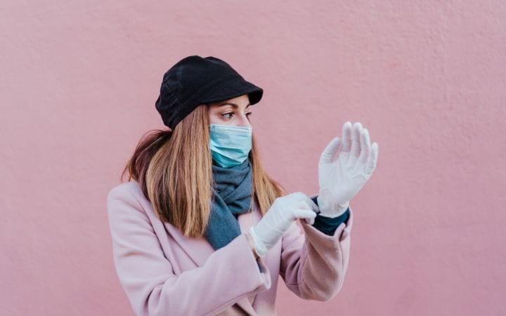 woman with mask and gloves, I Love Veterinary