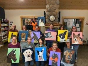 Alpine Animal Hospital Paint Night - I Love Veterinary