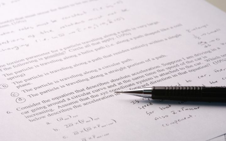 Mathematics exam on paper with pen, how to prepare for vet tech programs - I Love Veterinary