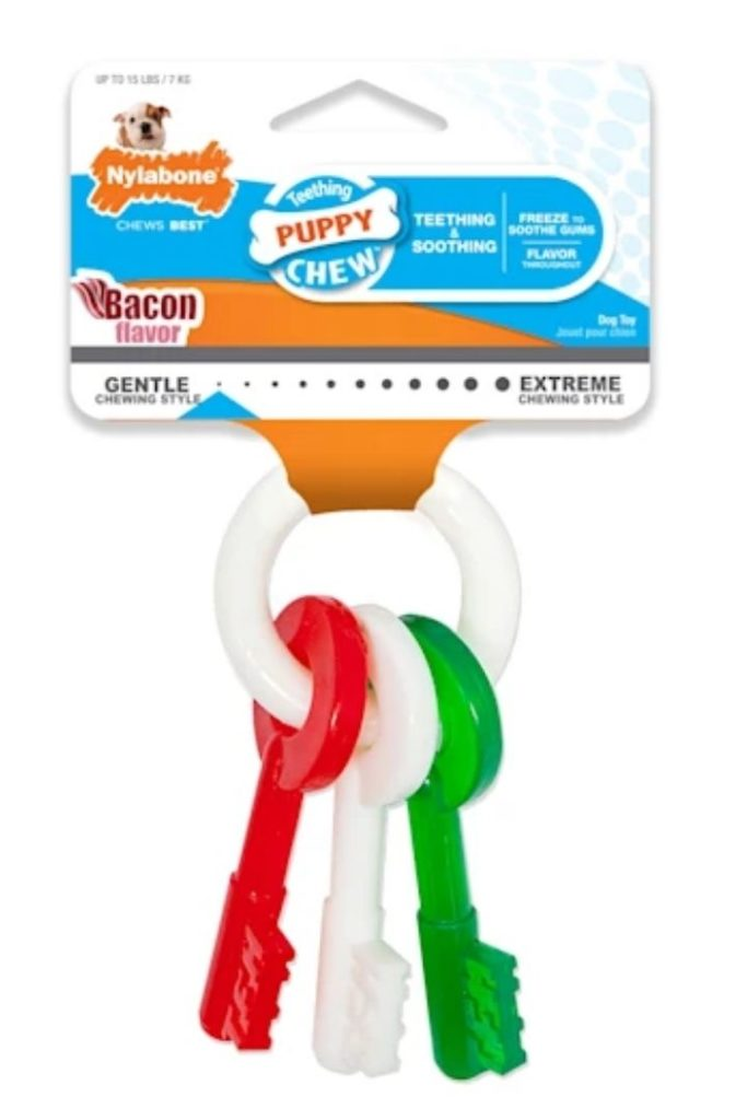 Nylabone Holiday Puppy Red Green White Teething Key Toys, Petco's Top Rated Pet Toys - I Love Veterinary