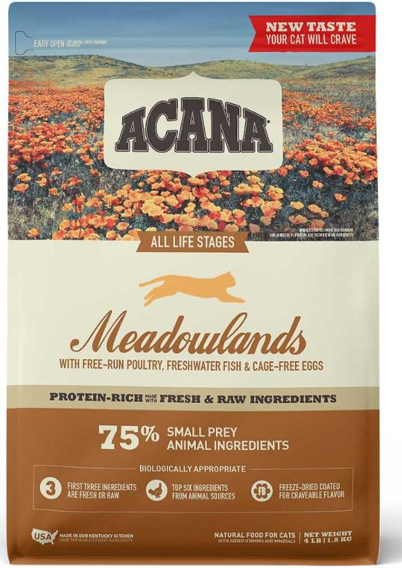 ACANA Regionals Meadowland Dry Cat Food I Love Veterinary - Blog for Veterinarians, Vet Techs, Students