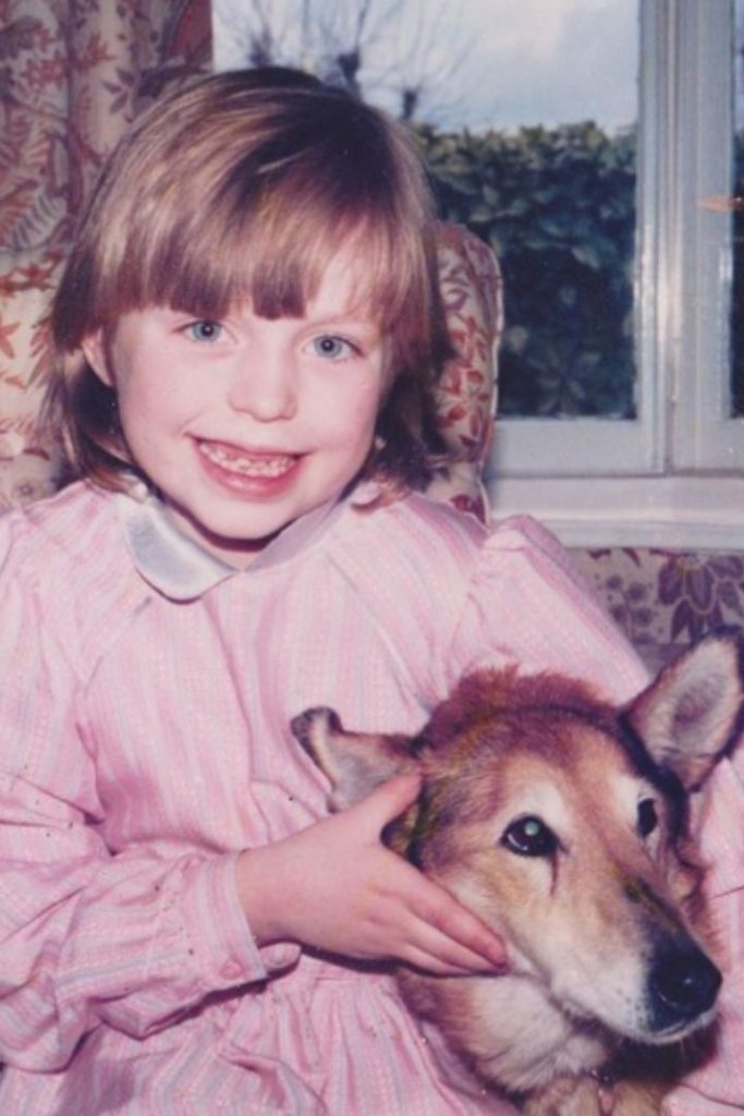 Cat the Vet as a child with her dog - I Love Veterianry