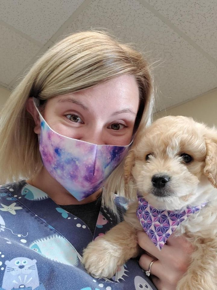 Vet Clinic of the Week La Crosse Veterinary Clinic staff, vet Jess with a dog - I Love Veterinary